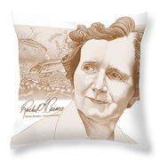 Rachel Carson Throw Pillow by John D Benson