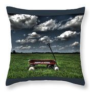 Radio Flyer Throw Pillow by Jane Linders