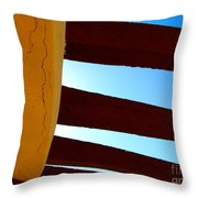 Rafters And Sky By Michael Fitzpatrick Throw Pillow by Mexicolors Art Photography