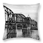 Railroad Bridge Throw Pillow by Scott Pellegrin