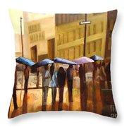 Rain In Manhattan Number Seventeen Throw Pillow by Tate Hamilton