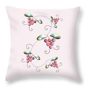 Rainbow Berries Throw Pillow by Anastasiya Malakhova