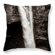 Rainbow Falls 2 - Sepia Throw Pillow by Christopher Holmes