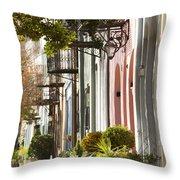 Rainbow Row Charleston Sc 2 Throw Pillow by Dustin K Ryan