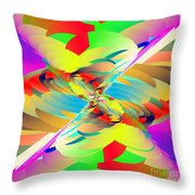 Rainbow Tornado Throw Pillow by Michael Skinner
