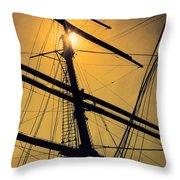 Raise The Sails Throw Pillow by Lauri Novak