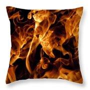Raku Dos Throw Pillow by Jennifer  Diaz