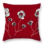 Ranunculus Throw Pillow by Frank Tschakert