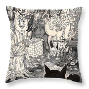 Rathbone Meets The Forest Lord Throw Pillow by Al Goldfarb