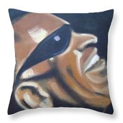Ray Charles Throw Pillow by Toni Berry