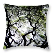 REACH FOR THE SKY Throw Pillow by KAREN WILES