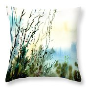 Reaching The Sky Throw Pillow by Anil Nene