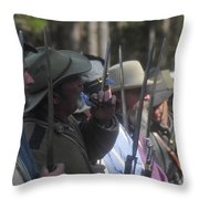 Rebel Bayonets Throw Pillow by David Lee Thompson