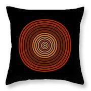 Red Abstract Circle Throw Pillow by Frank Tschakert