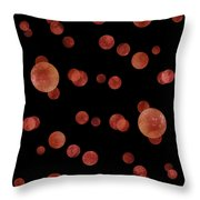 Red Abstract Dots Throw Pillow by Frank Tschakert