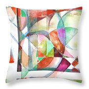 Red And Green Throw Pillow by Mindy Newman