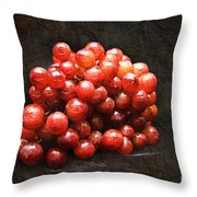 Red Grapes Throw Pillow by Andee Design