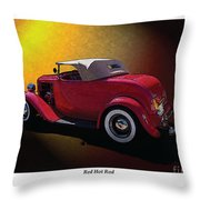 Red Hot Rod Throw Pillow by Kenneth De Tore