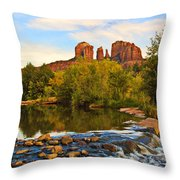 Red Rock Crossing Three Throw Pillow by Paul Basile