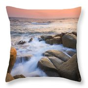 Red Sky At Morning Throw Pillow by Mike  Dawson