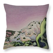 Red Sky Throw Pillow by Dale Beckman