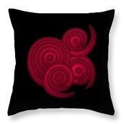 Red Spirals Throw Pillow by Frank Tschakert