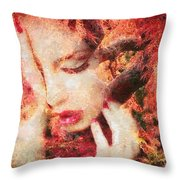 Redemption Throw Pillow by Mo T