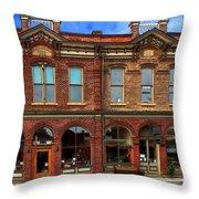Redmens Hall - Jacksonville Oregon Throw Pillow by James Eddy