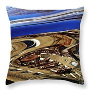 Reflection On A Parked Car 11 Throw Pillow by Sarah Loft