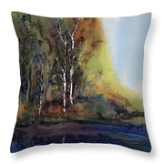 Reflections Throw Pillow by Carolyn Doe