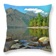 Reflections Glacier National Park  Throw Pillow by Michael Peychich
