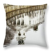 Reflections Of Church Throw Pillow by Karol  Livote