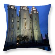 Reflective Temple Throw Pillow by Chad Dutson