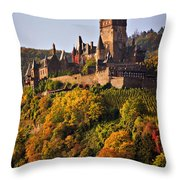 Reichsburg Castle Throw Pillow by Louise Heusinkveld