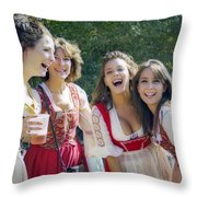 Renaissance Ladies Throw Pillow by Brian Wallace
