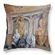 Reposo En El Vaticano Throw Pillow by Tomas Castano