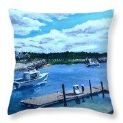 Returning to Sesuit Harbor Throw Pillow by Jack Skinner