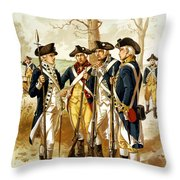 Revolutionary War Infantry Throw Pillow by War Is Hell Store