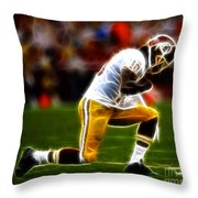 Rg3 - Tebowing Throw Pillow by Paul Ward