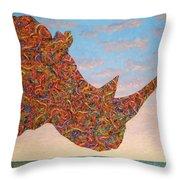Rhino-shape Throw Pillow by James W Johnson