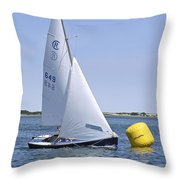 Rhodes 18 Rounding The Mark Throw Pillow by Charles Harden