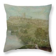 Richmond In Yorkshire Throw Pillow by Joseph Mallord William Turner