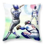 Rick Monday Throw Pillow by Mel Thompson