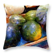 Ripe And Luscious Melons Throw Pillow by RC DeWinter