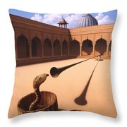 Risk Management Throw Pillow by Jerry LoFaro