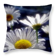 River Weed Throw Pillow by Sandy Rubini