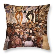 Rivera: Day Of The Dead Throw Pillow by Granger