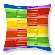 Road Runner Rainbow Throw Pillow by Gordon Dean II