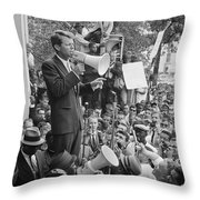 Robert F. Kennedy Throw Pillow by Granger