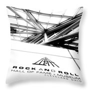 Rock and Roll Hall Of Fame Throw Pillow by Kenneth Krolikowski